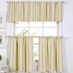 "<p>Beautifully familiar, the classic ticking stripe design of these window treatments invites muted tones and a touch of vintage sophistication in any space.</p><div style=""page-break-after: always"