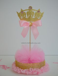 Princess Baby Shower/ Princess Birthday/ First Birthday/ Baby/ Its a girl/ Princess party/ Pink and gold/ Centerpieces/ Baby girl shower by LittleOrchidStudio on Etsy https://www.etsy.com/listing/458455494/princess-baby-shower-princess-birthday