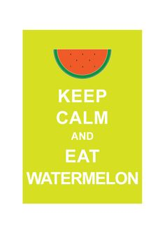 Keep Calm and Eat Watermelon : Lime Personalized custom color Wedding Birthday Anniversary Children Decor Kids Home Decor - BUY 2 Get 1 Free. $10.80, via Etsy.