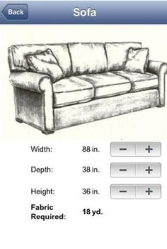 FABRIC CALC APP REVIEW. Sofa ReupholsteryReupholster ...