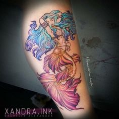 60 Mythical Mermaid Tattoos Designs and Ideas For Men and Women Mermaid tattoo Trendy Tattoos, Sexy Tattoos, Body Art Tattoos, Sleeve Tattoos, Tatoos, Hawaiianisches Tattoo, Tatoo Art, Tattoo Fonts, Tattoo Quotes