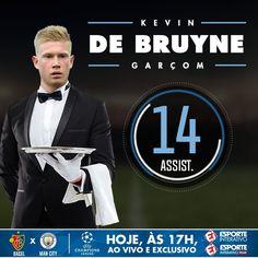 Vai uma assistência aí? Kevin De Bruyne tá voando na temporada!