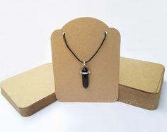 Collar tarjeta, Kraft exhibición del collar, pulsera, exhibición de la joyería, pendiente de la tarjeta