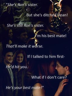 harry potter and ginny weasley Harry Potter Ginny Weasley, Harry Potter Ships, Harry Potter Quotes, Harry Potter Books, Harry Potter Love, Harry Potter Universal, Harry Potter Fandom, Harry Potter World, Ron Weasley