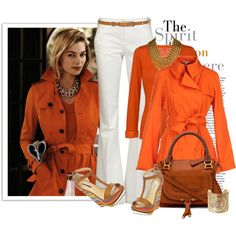 """Orange"" by johnna-cameron on Polyvore"