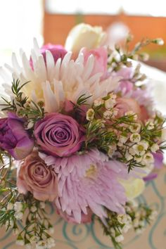 Traditional Pale Colour Wedding Wedding Flowers, Colour, Traditional, Table Decorations, Rose, Plants, Home Decor, Color, Pink