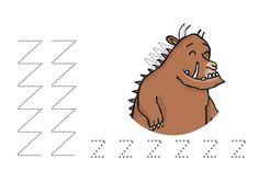 Werkblad schrijfpatronen: De Gruffalo