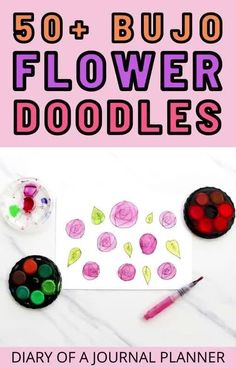 Make your bullet journal look stunning with these 50+ bujo flower doodle tutorials and drawing guides. #flowerbulletjournal #Bulletjournaldoodles #flowerdoodles #doodles Easy Flower Drawings, Easy Doodles Drawings, Flower Drawing Tutorials, Easy Doodle Art, Doodle Ideas, Drawing Flowers, Simple Doodles, Drawing Ideas, Bullet Journal Mood