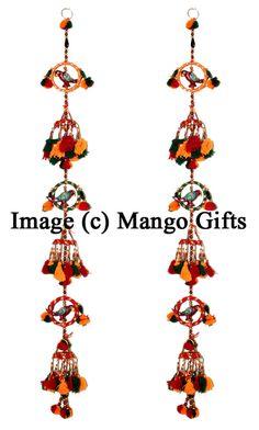 Indian Handmade Door Hanging Mobile String decoration Home Decor Ornaments 2 Pcs #Unbranded