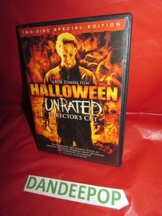 Halloween Unrated Director's Cut Rob Zombie Film 2 Disc Special Ed DVD Movie #Halloween #RobZombie #dandeepop