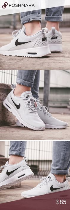 4ace392bb386 Nike air max thea sneakers Nike air max thea sneakers Pure platinum black  and white color