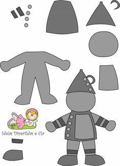 Personagens de O Mágico de Oz com moldes