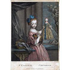 Simon Francois Ravenet, L'Enfance (Childhood) 1775-1800... Such a darling glimpse of 18th century girlhood!