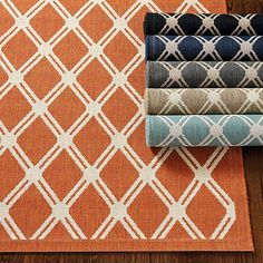 The geometric trellis pattern gives our Tricia Trellis Indoor/ Outdoor Rug a fashion-forward flair. Loomed of durable, washable 100% propylene to resist fading and mildew. Use of a rug pad is recommended. Tricia Trellis Indoor /Outdoor Rug features: Sizes are approximateImported from Belgium