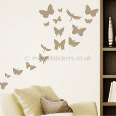 Butterfly Swarm wall sticker
