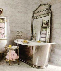 Glamorous ideas for bathroom decor bathroom likeable glamorous bathroom accessories silver trays in from glamorous bathroom accessories half bathroom Baños Shabby Chic, Estilo Shabby Chic, Shabby Chic Homes, Shabby Chic Furniture, Rustic Furniture, Antique Furniture, Furniture Decor, Glamorous Bathroom, Beautiful Bathrooms