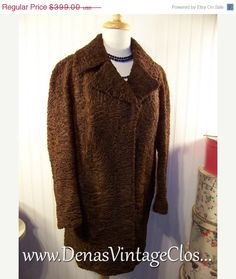 40 OFF THANKSGIVING SALE Brown Vintage 50s by DenasVintageCloset, $239.40