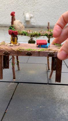 Fairy Tree Houses, Fairy Garden Houses, Fairy House Crafts, Fairies Garden, Magic Garden, Mini Fairy Garden, Fairy Crafts, Garden Crafts, Garden Bedroom