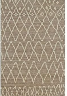 Feizy Rugs Feizy Midelt Dotted Diamonds 4-Foot x 6-Foot Area Rug in Natural/Slate