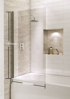 Square Over Bath Shower Screen Door Panel Hinged Reversible Safety Glass New