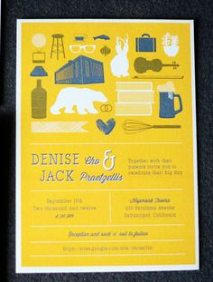 Modern Wedding Invitations by Good on Paper via Oh So Beautiful Paper (5)