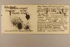 Eugène Ionesco. - Paris : Gallimard, 1966 Essai de calligraphie sonore par Massin d'après l'interprétation de Tsilla Chelton et de Jean Barrault à l'Odéon