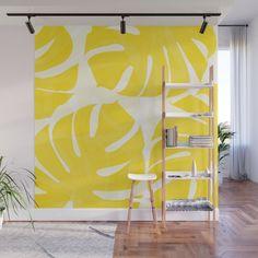 Creative Wall Painting, Wall Painting Decor, Mural Wall Art, Painting Murals On Walls, Wall Painting Living Room, Bedroom Wall, Bedroom Decor, Yellow Walls, Yellow Wall Decor