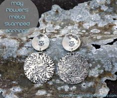 DIY Metal Stamped Earrings from icanmakemetalstampedjewelry.com