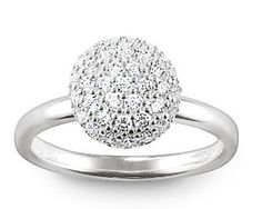 Thomas Sabo Rings Glam & Soul Silver Pavé Dome Ring Charm Thomas Sabo, Air Jordans, Jewelry Watches, Jewelry Accessories, Charmed, Engagement Rings, Jewels, Jewellery, Silver