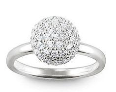 Thomas Sabo Rings Glam & Soul Silver Pavé Dome Ring Charm