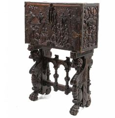 17TH/18TH CENTURY CARVED SPANISH BAROQUE VARGUENO : Lot 88