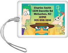 #Costume SuperCenter      #Personalized             #Phineas #Ferb #Personalized #Luggage #(Each)       Phineas and Ferb Personalized Luggage Tag (Each)                              http://www.seapai.com/product.aspx?PID=4880065