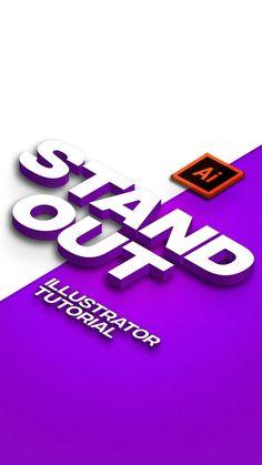 Graphic Design Lessons, Graphic Design Tools, Graphic Design Tutorials, Graphic Design Typography, Graphic Design Illustration, Illustrator Logo Design, Logo Design Tutorial, Graphisches Design, Text Design