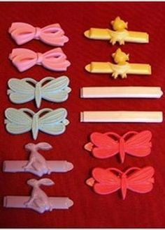 Hair Barrettes.    Still have some of the ones I wore.