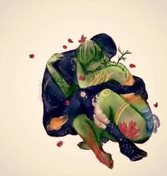 The way to love someone is to lightly run your finger over that person's soul until you find a crack, and then gently pour your love into that crack.  ~ Keith Miller  [Art: Uneflaneuse on DeviantArt.com]