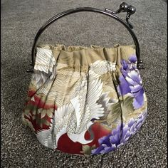 Beautiful handbag made in Hawaii birds floral Small perfect condition make an offer Abba Bags Clutches & Wristlets