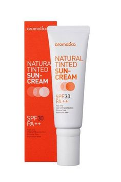 Aromatica's sunscreen is special for a few reasons. Firstly, it's a physical sunscreen, which means it reflects UV rays instead of absorbing them — so it's similar to zinc. But, unlike zinc, it doesn't have that white, chalky texture to it. It's one of the more wearable sunscreens on the market — and it's available stateside.Aromatica Natural Tinted Sun-Cream, $25, available at Peach