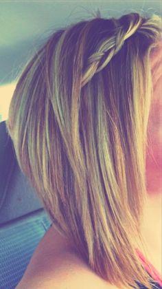 Long A Line Blonde Bob #myhairrocks #hippiebraid by louisa