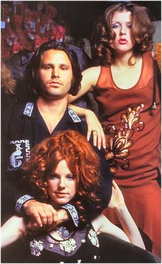 Designer Tere Tereba with friends Jim Morrison and Pamela Courson.