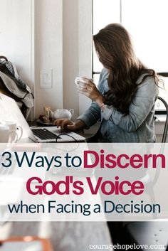 Do you ever struggle to find your calling or your purpose? When faced with a decision, there are specific steps you can take to discern God's voice. / Find you calling / discernment / Discern God's voice / Decision making / Godly direction / Discern God's will
