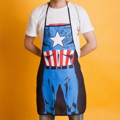 Captain America Funny Cooking BBQ Novelty Apron