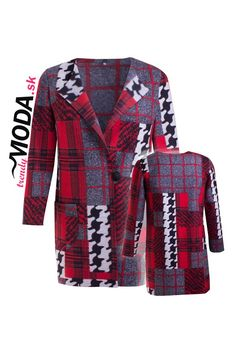 Trendový teplý dámsky kardigán-trendymoda.sk Blazer, Jackets, Women, Fashion, Down Jackets, Moda, Fashion Styles, Blazers, Fashion Illustrations