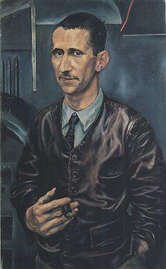 New Objectivity. Portrait of Bert Brecht, 1926 // painting by Rudolf Schlichter Max Beckmann, Harlem Renaissance, Ludwig Meidner, Antoine Bourdelle, George Grosz, Degenerate Art, New Objectivity, Oeuvre D'art, Portrait Paintings