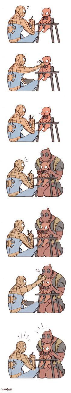 homem aranha e deadpool yaoi - Pesquisa Google