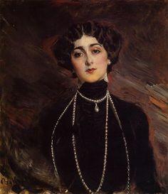 Giovanni Boldini (1842-1931) Portrait of Lina Cavalieri Oil on canvas c1901 Public collection