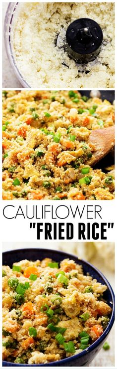 Cauliflower Fried Rice. Update by Sandy: I added chicken, and I would recommend adding an extra egg. This was a smashing hit!