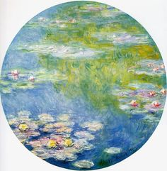 Water-Lilies 18 oil painting by Claude Oscar Monet, The highest quality oil painting reproductions and great customer service! Famous Flower Paintings, Monet Paintings, Impressionist Paintings, Impressionism Art, Monet Tattoo, Dallas Museums, William Blake, Piet Mondrian, Oil Painting Reproductions