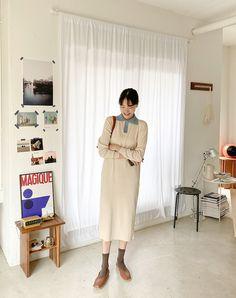 Korean Dress, Shop Interiors, Coffee Shops, Korean Style, Modest Fashion, Korean Fashion, Shirt Dress, Outfits, Shopping