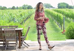 The Co-owner of Long Island's Wölffer Estate Vineyard and Founder and Creative Director of mobile boutique The Styleliner, here wearing alienina necklace and cuff Wsj Magazine, Mobile Boutique, Contemporary Jewellery, Creative Director, The Hamptons, Latest Fashion, Tory Burch, Harem Pants, Blog