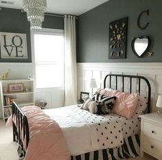 Merveilleux Little Girls Room. Pottery Barn, Shanty 2 Chic, Hobby Lobby, Homegoods And  Target! Board And Batten Walls Set The Room Off With Dark Gray Walls By  Sherwin ...